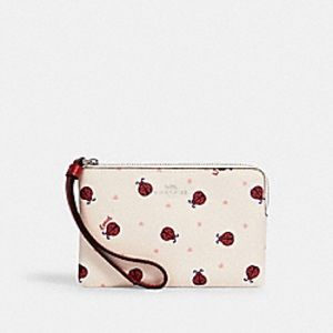 NWT Coach adorable ladybug wristlet!! PRICE FIRM